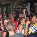 Party at Slammer Bar on Ios in Greece