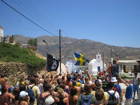 Swedish Midsummer Party on Ios Greece