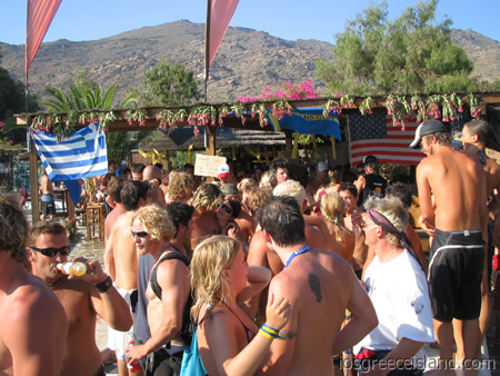 Swedish Midsummer Party at Far Out Club in Ios Greece