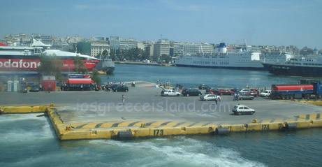 Port of Piraeus in Athens Greece